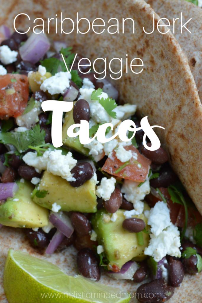caribbean jerk veggie tacos