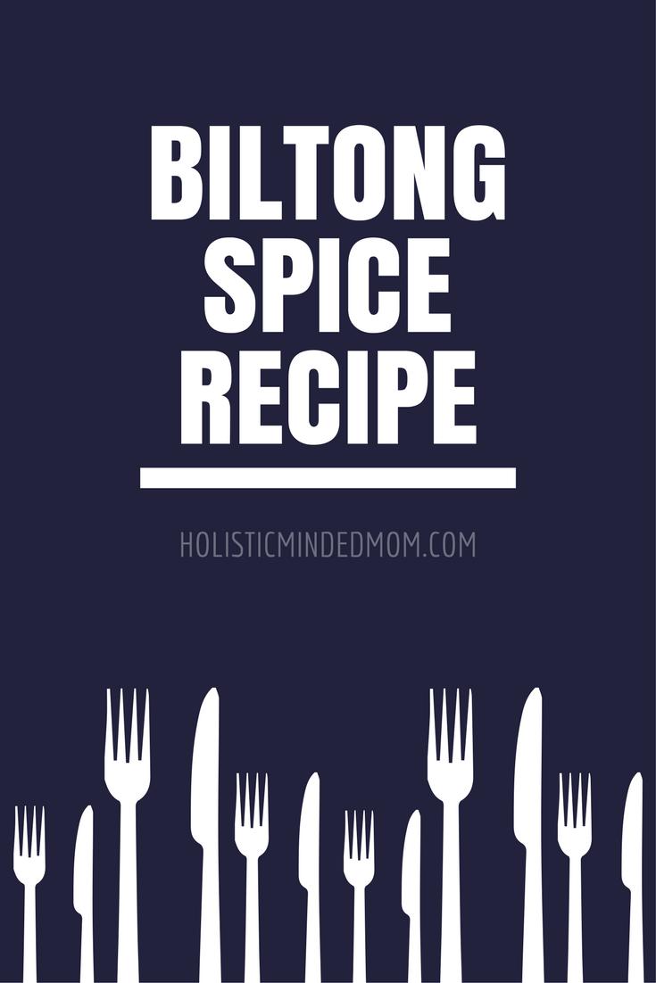 Biltong Spice Recipe